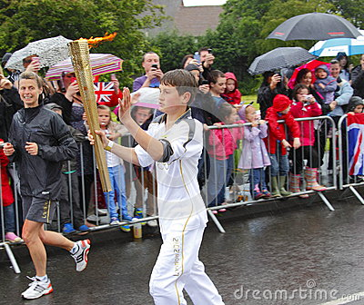 Olympic torch relay Editorial Image