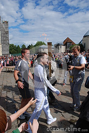 Olympic Torch Relay Editorial Photo