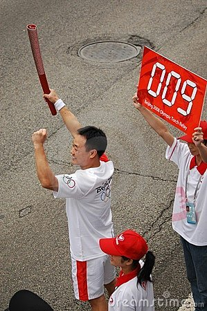 Olympic torch relay kicks off in Guangzhou Editorial Photography