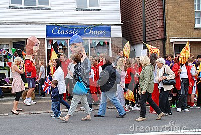 Olympic Torch Relay, Rye Editorial Photo