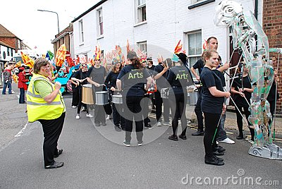 Olympic Torch Relay, Rye Editorial Stock Photo