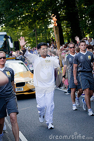 Olympic Torch Relay Sheffield Editorial Stock Photo