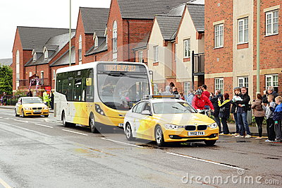 Olympic Torch Relay Tour 2012 Editorial Stock Photo