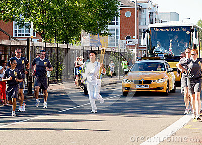Olympic Torchbearer 2012, London Editorial Photography