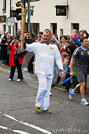 Olympic Torchbearer Editorial Photo