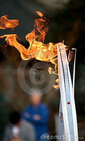 Olympic torches Editorial Image