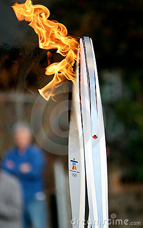 Olympic torches Editorial Stock Image