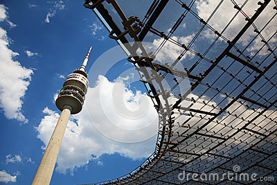 The Olympic tower in Munich in Germany