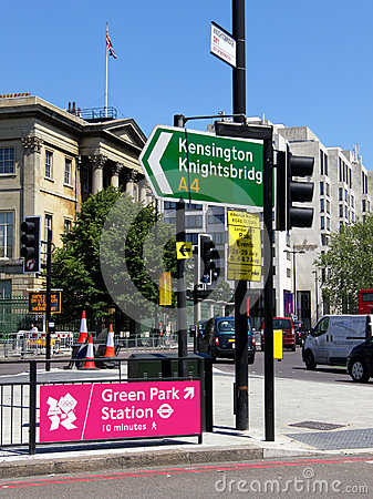 Olympic walking signs in London Editorial Image