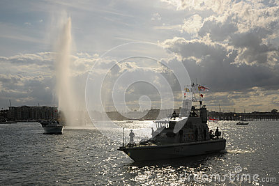 Olympic water salute Editorial Photo