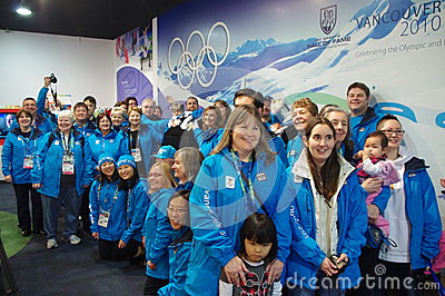 2010 Olympic Winter Games Olympic volunteers Editorial Stock Image