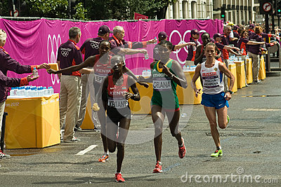 Olympic Women s Marathon Leaders Editorial Image