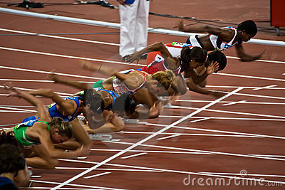 Olympic women s runners Editorial Stock Photo