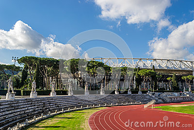 Olympico Stadium Roma Editorial Stock Image