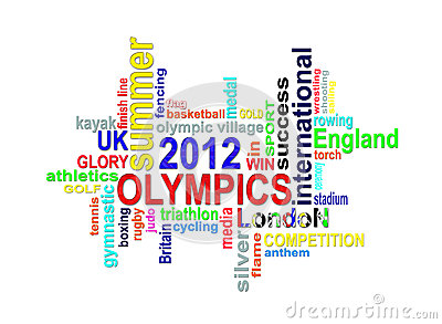 Olympics 2012 - London Summer Games Word Cloud Royalty Free Stock Image - Image: 25847216