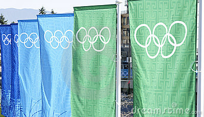 Olympics Banners Vancouver Editorial Stock Photo