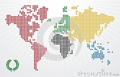Olympics Games world map illustration