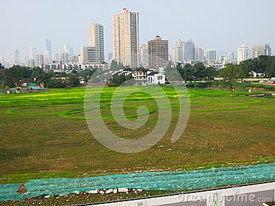 Olympics Logo in Grass Editorial Stock Photo