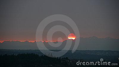 Olympics Sunset