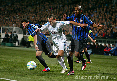Olympique de Marseille vs Inter Milano Editorial Photo