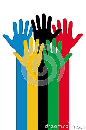 Olympische Hände