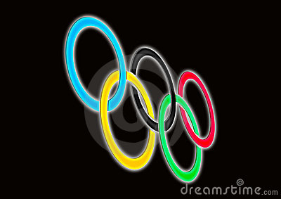 Olympische ringen Redactionele Fotografie
