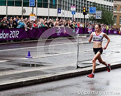 Olympisches Marathon Redaktionelles Bild