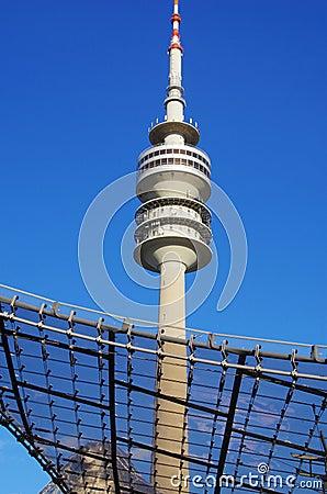 Olympisk park Munich Redaktionell Arkivbild