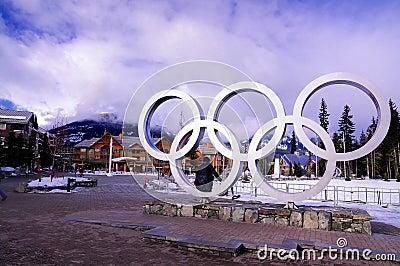 Olympiska spelvinter Redaktionell Foto