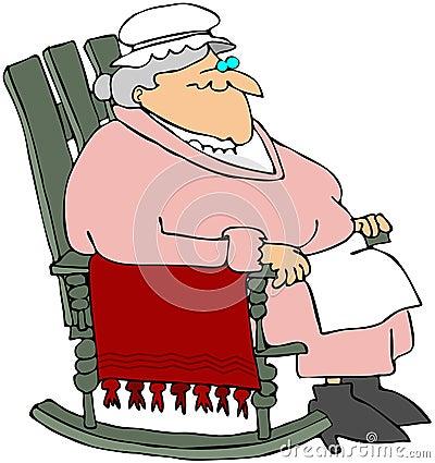 Oma in een Schommelstoel