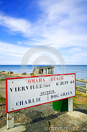 Omaha Beach World War Normandy location Vierville