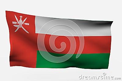 Oman 3d flag
