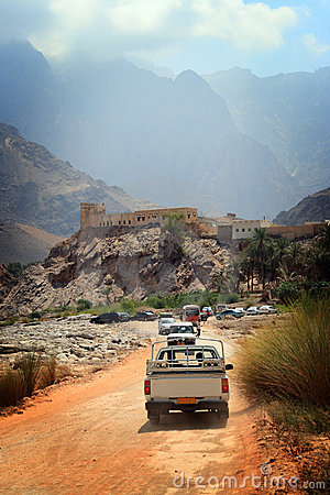 Free Oman: Driving In Wadi Stock Image - 7604011