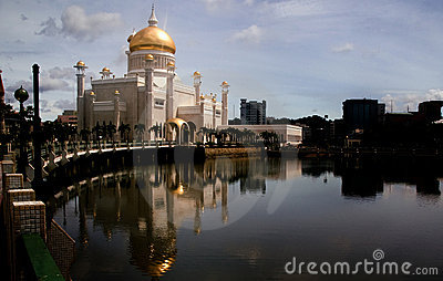 Omar Ali Saifuddin Mosque Brunei Editorial Stock Photo