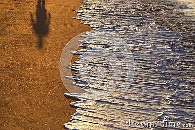 Ombra su una spiaggia