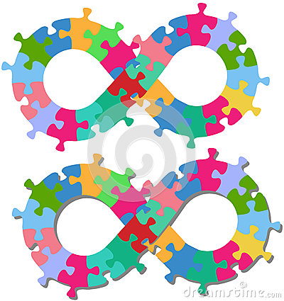 Ombre d isolement par parties de puzzle de forme de l infini 8
