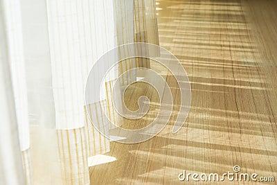 ombre de briller par une porte et les rideaux photo stock image 56522557. Black Bedroom Furniture Sets. Home Design Ideas