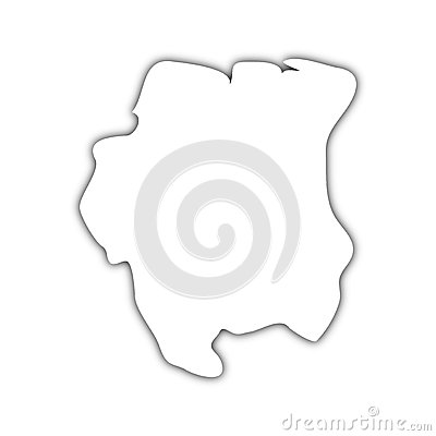 Ombre hollandaise de carte de la Guyane