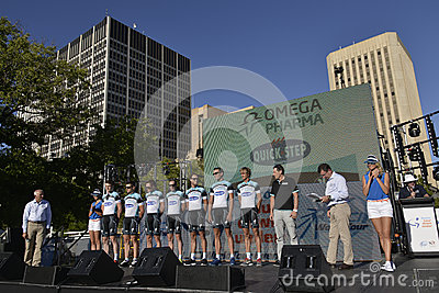 Omega Pharma Quick Step Professional Cycling Team Editorial Stock Image