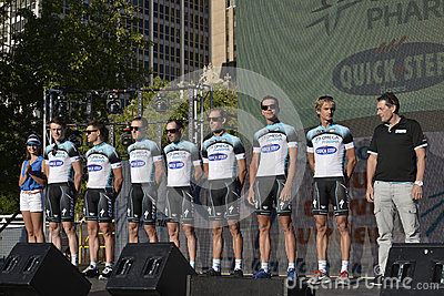 Omega Pharma Quick Step Professional Cycling Team Editorial Photo