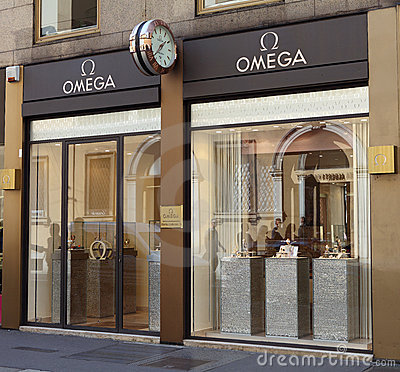 Omega store Editorial Image