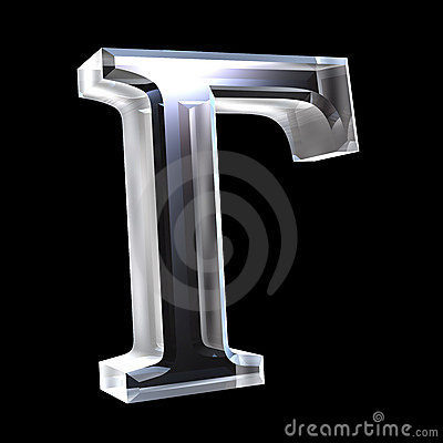 Free Omega Symbol In Glass (3d) Royalty Free Stock Photo - 5529505