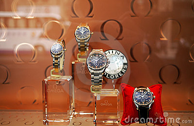 Omega watches Editorial Stock Image