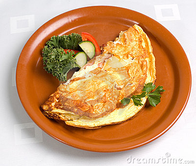 Omelet with Ham and Cheese