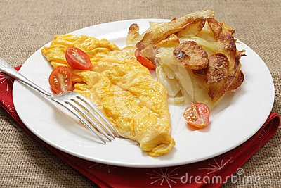 Omelet and potatoes Anna