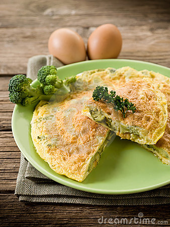 Omelette with broccoli