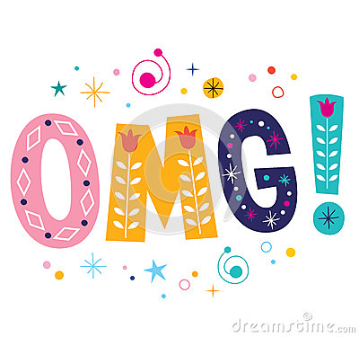 Free OMG! Expression - Oh My God Decorative Lettering Text Royalty Free Stock Photography - 53493187
