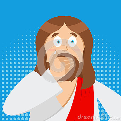 Free OMG Jesus Is Facepalm Pop Art . Oh My God Christ Is Disappointed Royalty Free Stock Photo - 99117715
