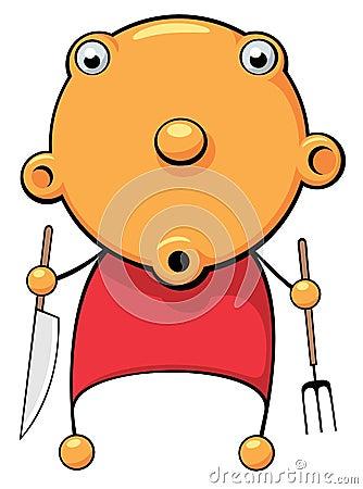 πεινασμένος μωρών έκπληκτ&omicro