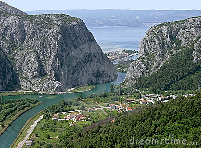 Omis old city in Croatia